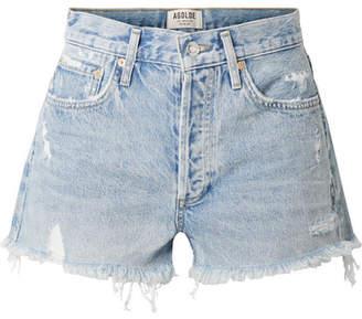 A Gold E AGOLDE Parker Distressed Denim Shorts - Light denim