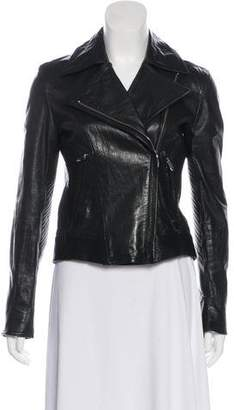Theyskens' Theory Quilted Leather Zip-Up Jacket