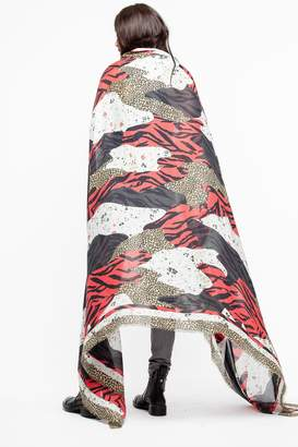 Zadig & Voltaire Maxy Patchwork Scarf