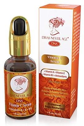 Divas Never Age Vitamin C Serum + Vitamin A + Vitamin E + Vitamin B3 + Antioxidants