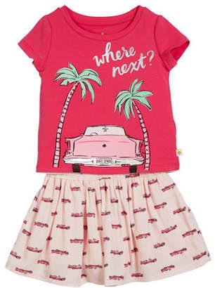 Kate Spade Where Next Tee W/ Hot Rod Skirt, Size 2-6x