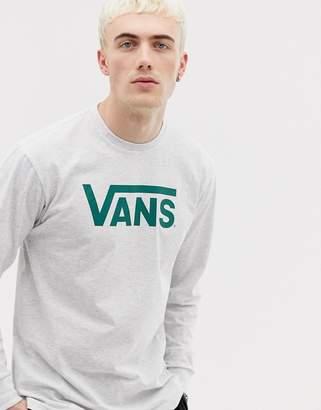 9354977e8 Vans long sleeve top with logo in grey VN000K6HWTZ1