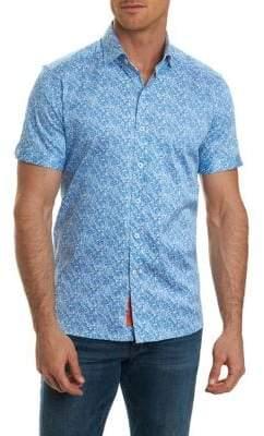 Robert Graham Short-Sleeve Paisley Print Button-Down Shirt