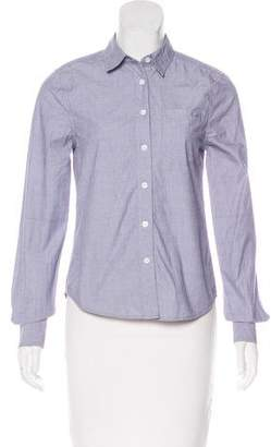 Kate Moss x Equipment Long Sleeve Button-Up Top