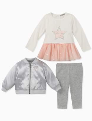 Calvin Klein girls 3-piece bomber jacket set