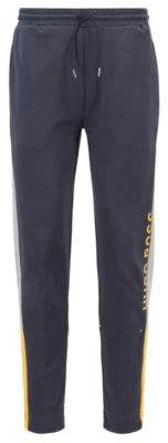 BOSS Hugo Color-block jogging pants in French terry S Dark Blue