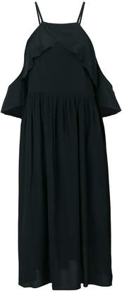 Semi-Couture Semicouture cold shoulder flared dress