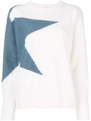 Eleventy star knit jumper