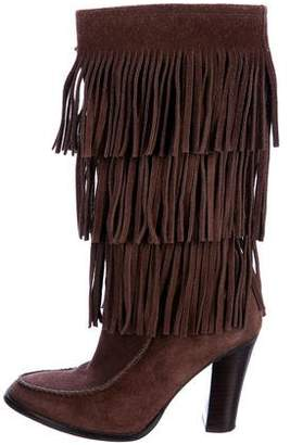 Ralph Lauren Fringed Mid-Calf Boots