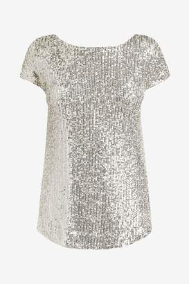 F&F Womens Silver Sequin Top - Silver