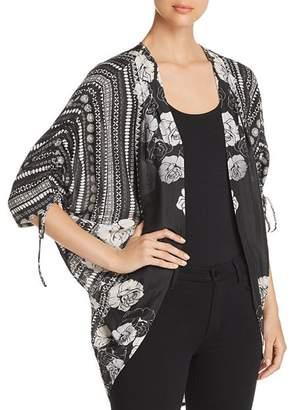 Tolani Printed Kimono-Style Cardigan