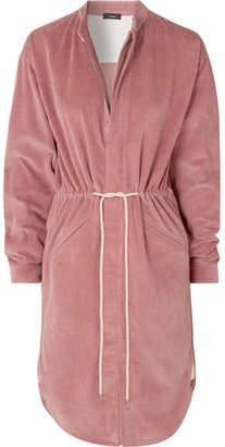 Bassike Cotton-corduroy Mini Dress - Pink