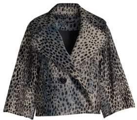 Elie Tahari Edna Spot Cropped Jacket