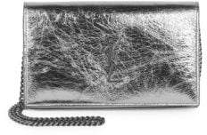 Saint Laurent Metallic Leather Crossbody Wallet
