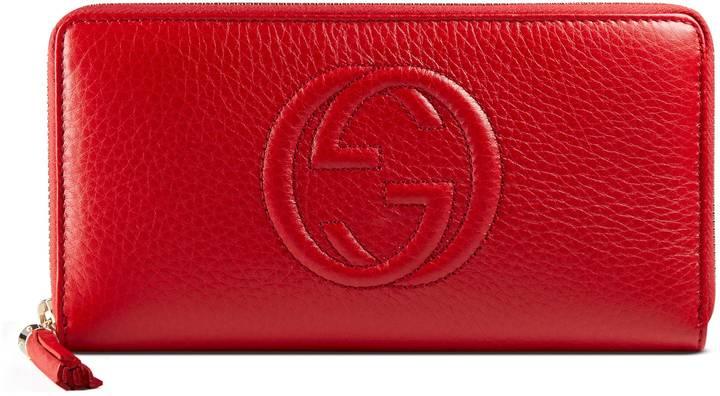 GucciSoho leather zip around wallet