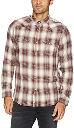 Lucky Brand Men's Double Weave Santa Fe Western Shirt