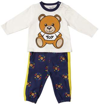 Moschino Toy Logo Printed Cotton T-Shirt & Pants