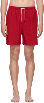 Solid and Striped Red Classic Swim Shorts