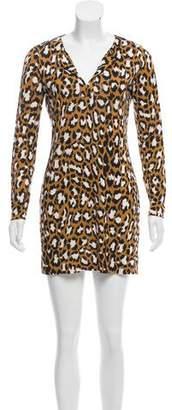 Diane von Furstenberg Leopard Print Silk-Blend Dress