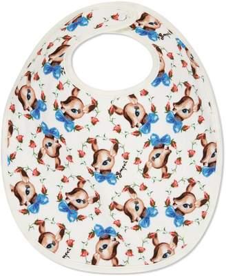 Gucci Baby fawns print cotton bib