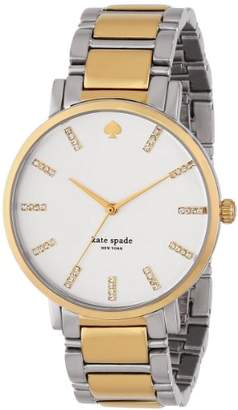 Kate Spade Women's 1YRU0144 Gramercy Grand Analog Display Japanese Quartz Two Tone Watch