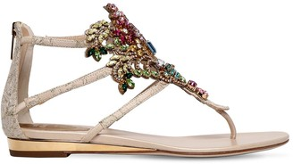 Rene Caovilla 20mm Swarovski Lace Sandals