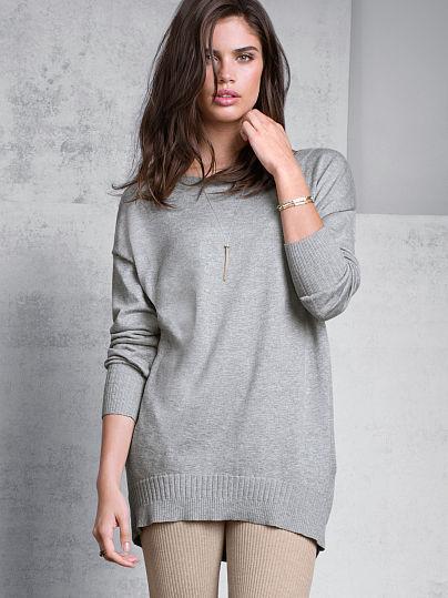 Victoria's Secret A Kiss of Cashmere Split-back Tunic Sweater
