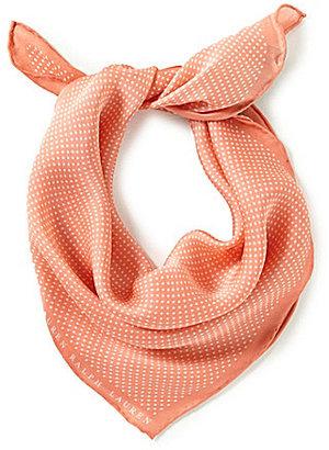 Lauren Ralph Lauren Solange Dotted Silk Square Scarf $35 thestylecure.com