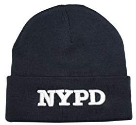 Factory NYC NYPD Winter Hat New York Police Department & White