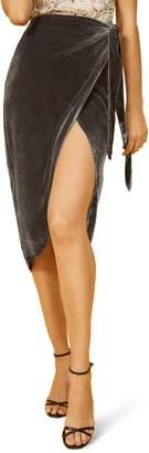 Reformation Amberleigh Velvet Skirt