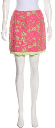 Lilly Pulitzer Embroidered Mini Skirt