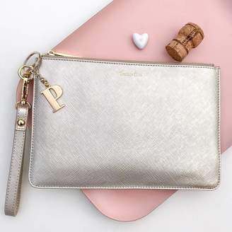 Nest Personalised 'Prosecco Time' Secret Saying Clutch Bag
