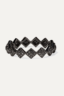 Ofira - Tattoo 18-karat Blackened White Gold Diamond Ring
