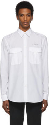 Givenchy White Military Shirt