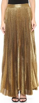 alice + olivia Katz Sunburst Pleated Maxi Skirt $495 thestylecure.com