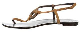 Giuseppe Zanotti Suede Flat Sandals