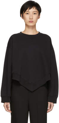 Maison Margiela Black Basic Bottom V Sweatshirt