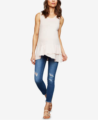 A Pea in the Pod Articles Of Society Maternity Distressed Skinny Jeans