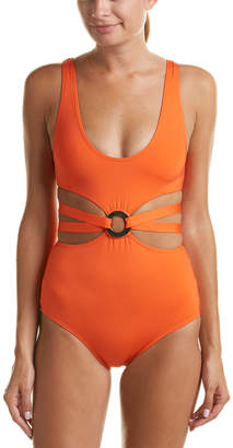 Proenza Schouler Ring-Trim Maillot One-Piece