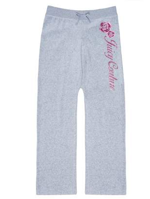 Juicy Couture Velour Floral Mirror Cameo Mar Vista Pant for Girls