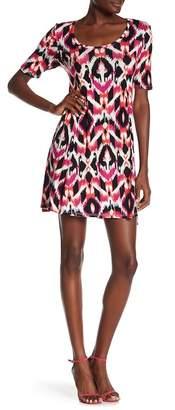 Loveappella Print Swing Dress