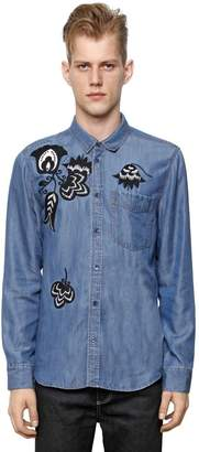 Paul & Joe Embroidered Tencel Denim Effect Shirt