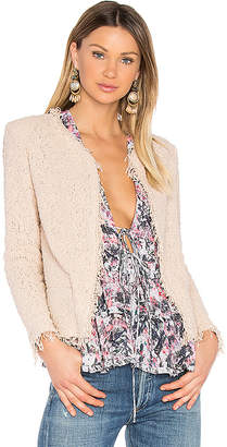 IRO Shavani Jacket in Pink $379 thestylecure.com