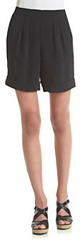 Chaus Pleated Pull On Crepe Shorts