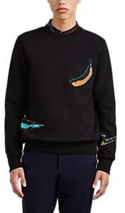 Paul Smith Men's Fruit-&-Shark Cotton Terry Sweatshirt - Black