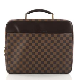 Louis Vuitton Brown Leather Travel Bag