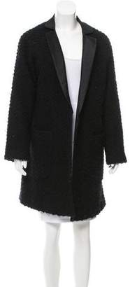 Jenni Kayne Silk-Trimmed Wool Coat