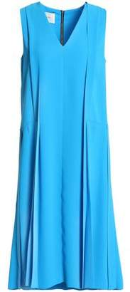 Cédric Charlier Pleated Crepe Dress