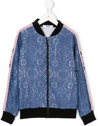 MSGM layered bomber jacket