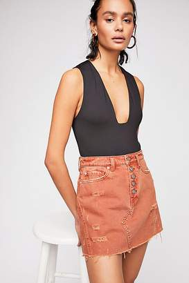 We The Free Denim A-Line Skirt